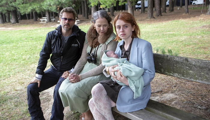 "Juanma Bajo Ulloa, Harriet Sansom Harris and Rosie Day. ""Baby""."